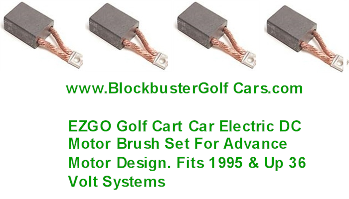 Brush set 4 e z go advance brand electric motor 1997 up for Advanced motors and drives golf cart