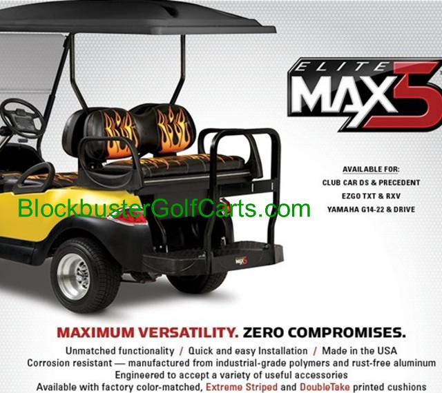 New Max5 Rear seat Kits For Club Car EZGO & Yamaha Golf Carts