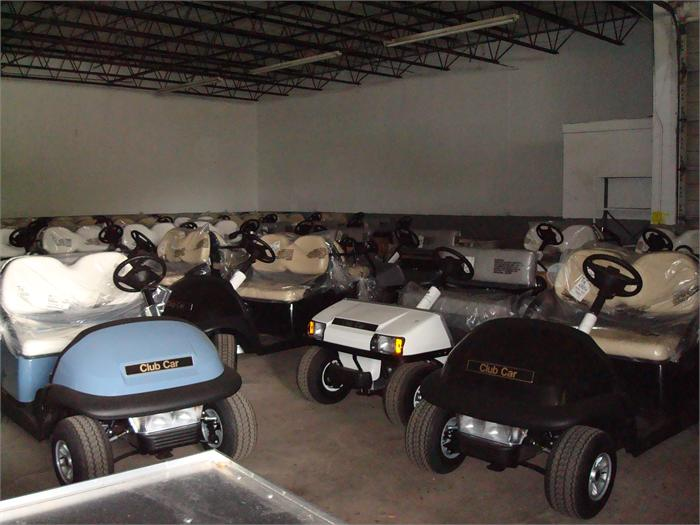 CLUB CAR ASSORTED NEW EXPORT GOLF CARTS