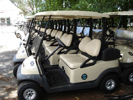 EXPORT CLUB CAR GOLF CARTS
