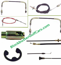 Club Car Cables Accellerator, Govenor and FNR Shifter