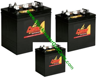 Batteries 6 Volt, 8 Volt & 12 Volt-Club Car